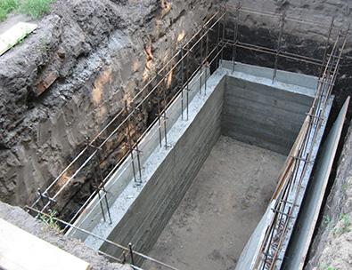 фото каркасного бетонирования