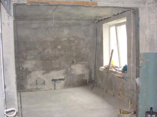 Фото. Демонтаж до бетона